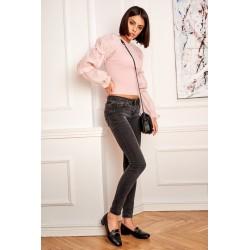 Suknelė perrišta juosmens chaki spalvos