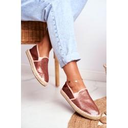 Spalvoti džinsai švelniai rožinės spalvos