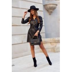 Palaidinė su spalvingu oranžiniu raštu