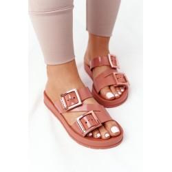 Suknelė su blizgučių kišene tamsiai rožinė pudra