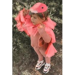 Oversize sweatshirt with asymmetrical sides khaki